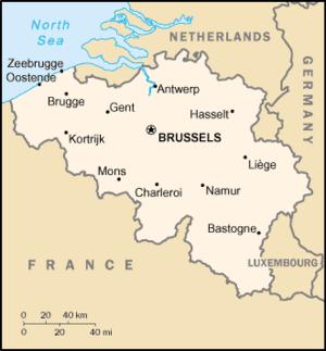בלגיה ושכנותיה צרפת, הולנד וגרמניה