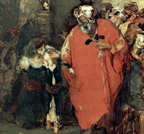 ילדים צעירים ומובאים כעבדים לארמון השולטאן
