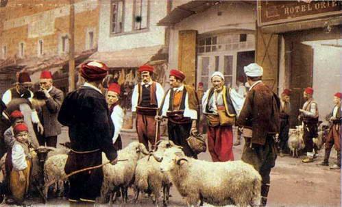 רחוב בבוסניה והרצגובינה של תחילת המאה ה- 20