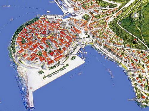 מפת העיר קורצ'ולה