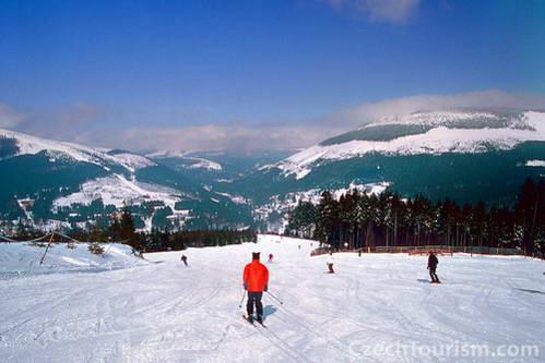 אתר סקי בהרי קרקונושה, צ'כיה