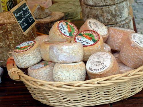 מבחר גבינות בשוק המקומי