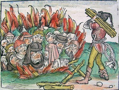 שריפת יהודים על רקע מגיפת המוות השחור