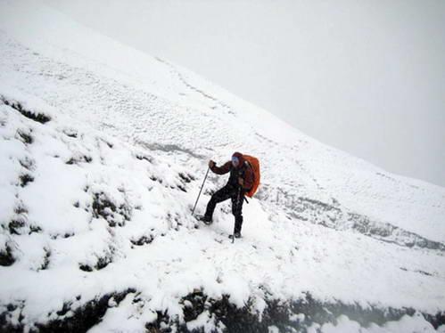 טיפוס על השלג, שלג מלמטה ושלג מלמעלה, לא נעים
