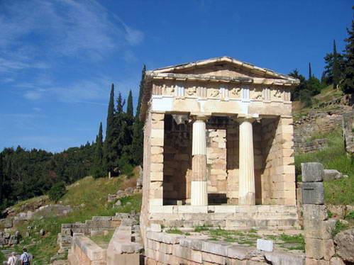 בית האוצר של דלפי, יוון