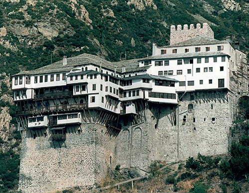 מנזר Dionysiou בהר אתוס, צפון יוון