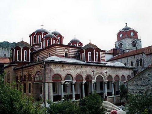 מנזר Esphigmenou בהר אתוס, צפון יוון