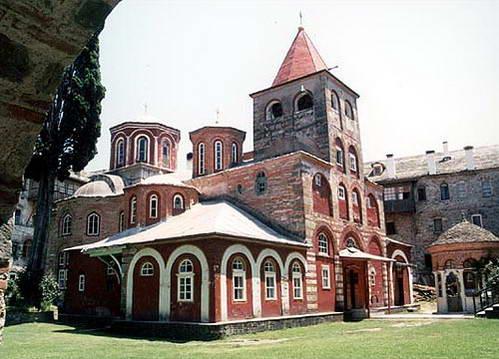 מנזר Philotheou בהר אתוס, צפון יוון