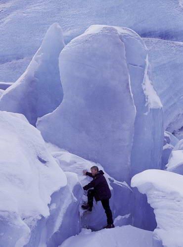 טיפוס על קרחון באיסלנד