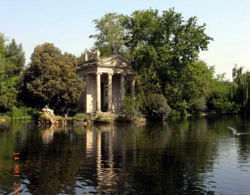 פינת חמד בפארק וילה בורגזה, רומא