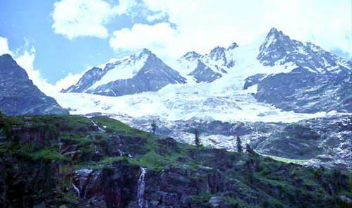 קרחונים בעמק אאוסטה, צפון איטליה