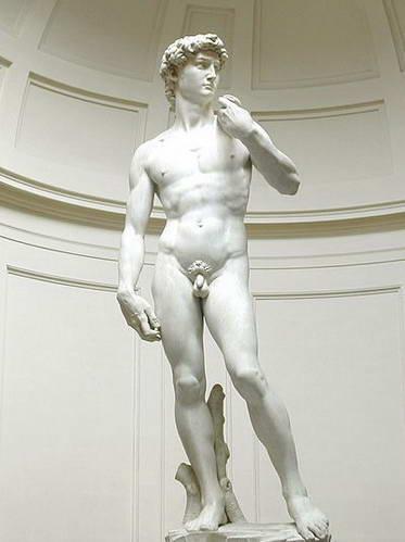 פסל דוד המקורי במוזיאון האקדמיה, פירנצה