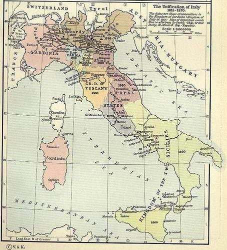 מפת איחוד איטליה