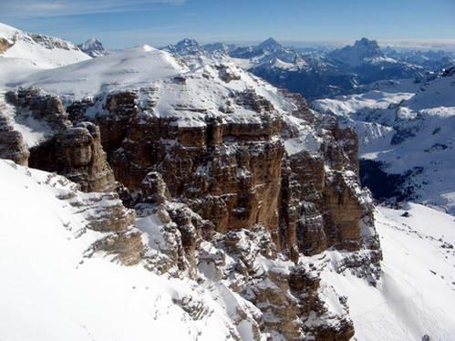 תצפית מפסגת סאס פורדוי, רכס סלה, איטליה