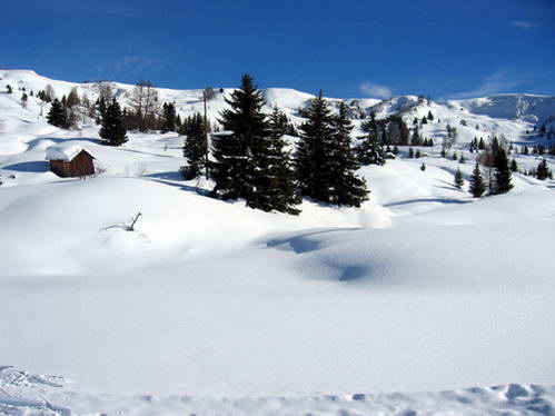 מרחבי השלג בסלה רונדה, איטליה