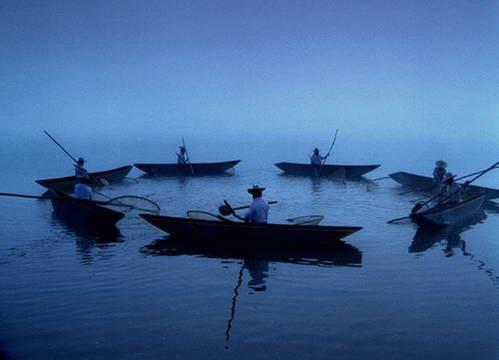 דייגים באגם פאצ'קוארו, מקסיקו