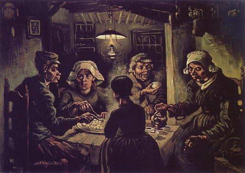 אוכלי הבולבוסים, וינסנט ואן גוך, הולנד
