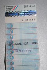 כרטיס Strippenkaart, הולנד