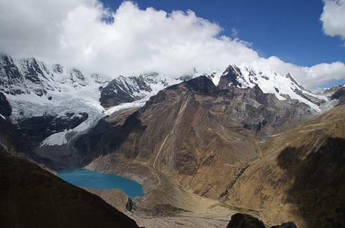 הווארז, הר שירישנקה וקרחון תם, אגם סולטרקוצ'ה, תצפית ממינה פונטה, פרו