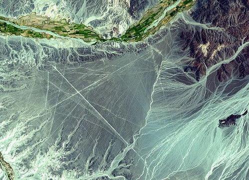 צילום מהחלל של קווי נאסקה, פרו