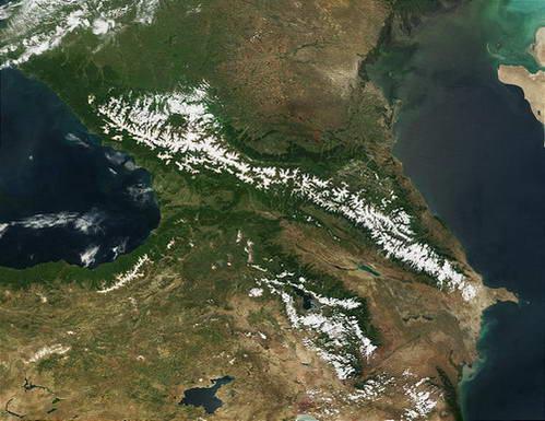 רכס הקווקז מלמעלה, רוסיה