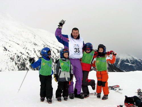 סקי עם פעוטות