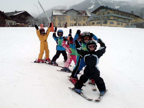 לימוד סקי לילדים בעברית