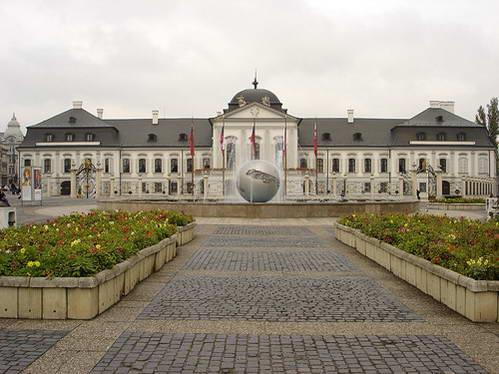 ארמון גרשלקוביץ' המשמש כיום משכנו של נשיא סלובקיה