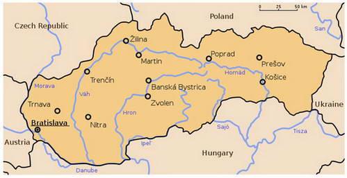 נהרות סלובקיה הגדולים