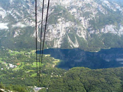 אגם בוהין מהרכבל העולה להר ווגל