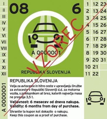 מדבקת האוטוסטרדות של סלובניה