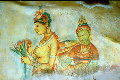 ציור קיר במבצר סיגירייה, סרי לנק