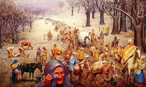 נתיב הדמעות, צעדת השבטים האינדיאנים שגורשו למדינת אוקלהומה