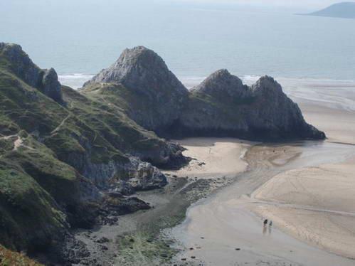 חוף שלושת הצוקים, ויילס, אנגליה