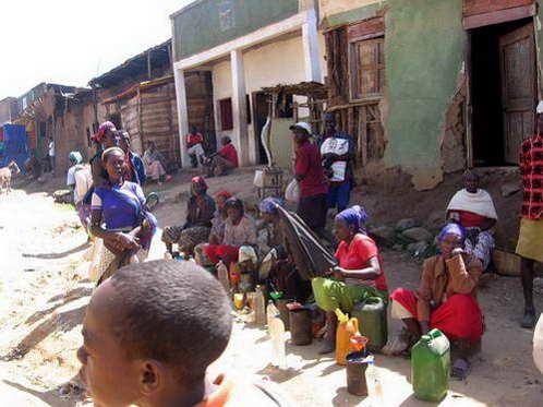 השוק בכפר קונסו, אתיופיה