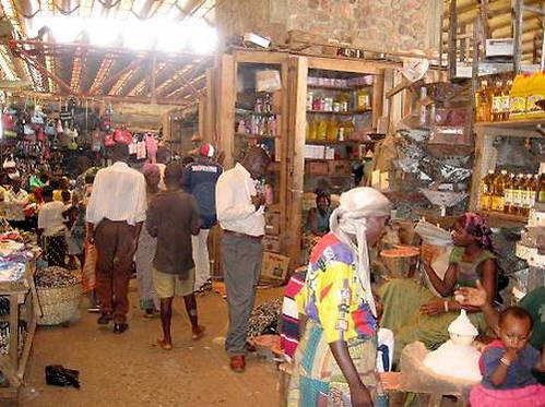 שוק אופייני בבוג'ומבורה הבירה