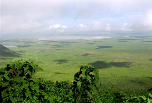 קלדרת נגורונגורו ואגם מגדי בתוכו