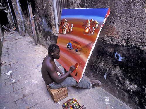 ציורי טינגה טינגה, זנזיבר