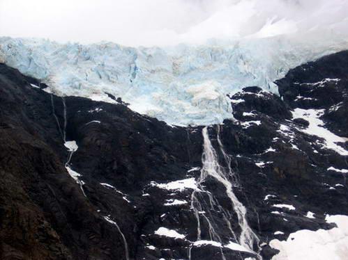 קרחון, העמק הצרפתי, טורס דל פיינה, טורוסים, פטגוניה, ארגנטינה