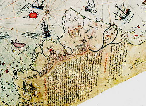 מפת פירי רא'-איס, פטגוניה, ארגנטינה