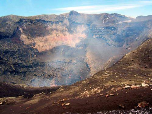 לוע הר הגעש וייאריקה, פוקון, צ'ילה