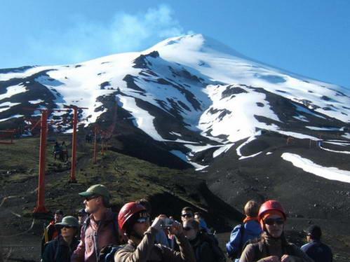 רכבל, הר הגעש וייאריקה, פוקון, צ'ילה