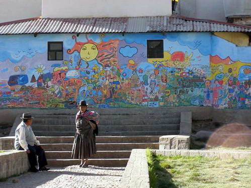 אגם טיטיקקה, קופקבנה, העיירה יומני, בוליביה