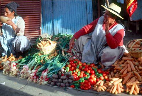 שוק בקוצ'במבה בבוליביה
