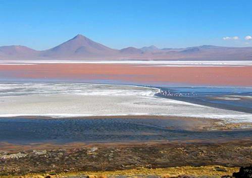 הלגונה האדומה במדבר הסלאר בבוליביה