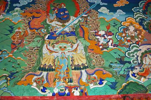 ציור קיר במנזר לאברנג בש'יאחה