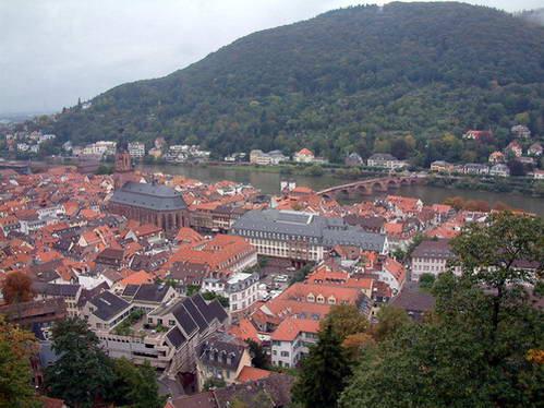 העיר היידלברג, תצפית מטירת היידלברג, גרמניה