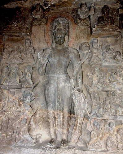 פיסול קיר במערות אורנגבד