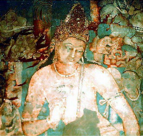 פאדמאפאני, הבודהיסטווה העתידית כשהיא נושאת לוטוס פורח