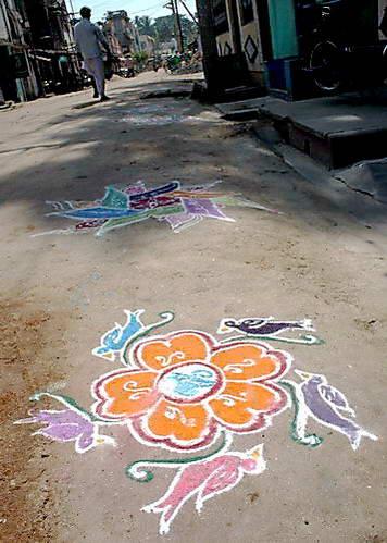 ציורי קולאם, הודו